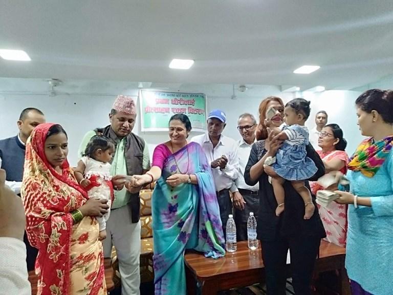 प्रथम छोरी जनमाउने ४३ जना परिवारलाई प्रोत्साहन स्वरुप ३ हजार रकम हस्तान्तरण
