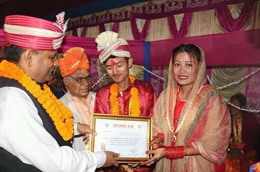 १०८ जोडीको सामूहिक आदर्श विवाह सम्पन्न,नव विवाहित जोडीलाई मुख्यमन्त्री राउतको शुभकामना