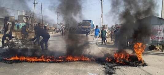 आइसिपीको जग्गा विवादलाई लिएर स्थानीयद्वारा आन्दोलन