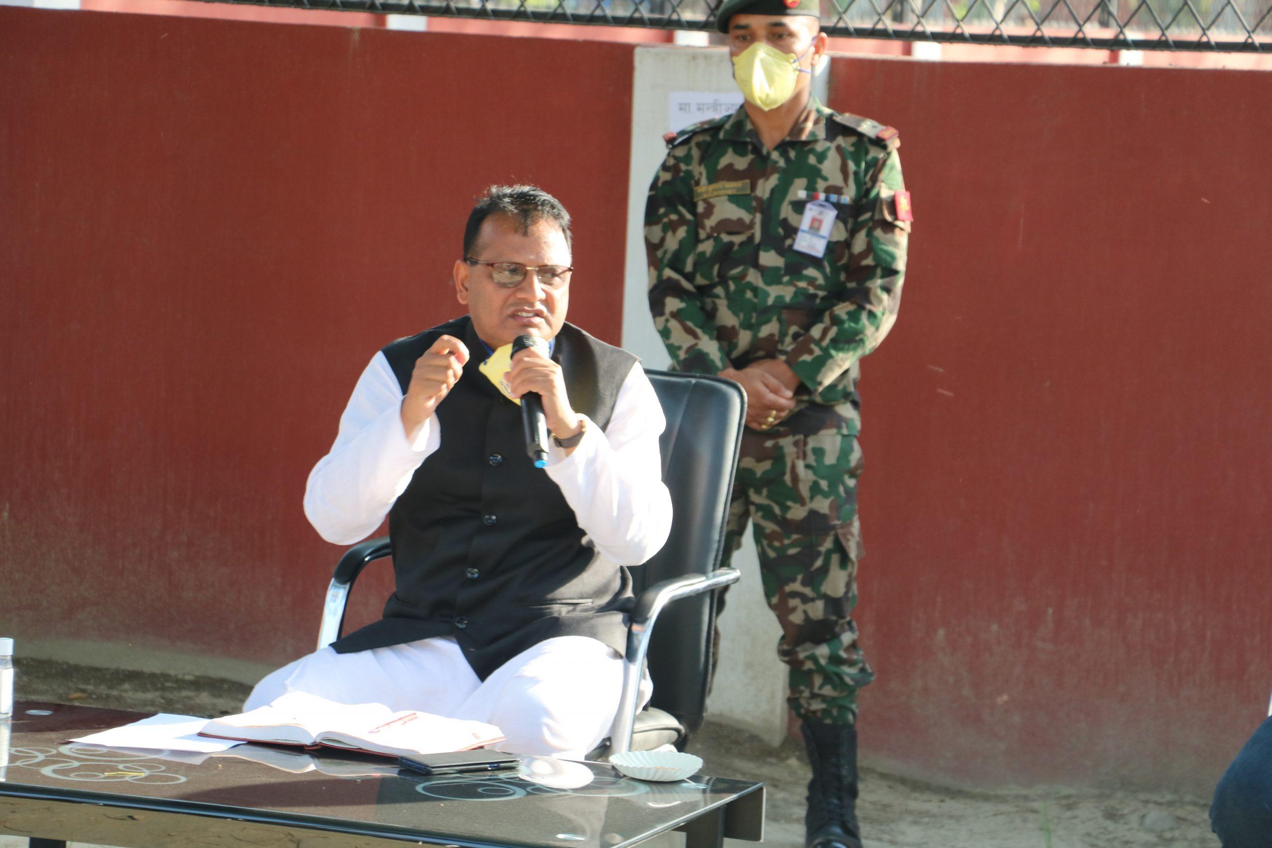 प्रदेश सरकारले रोजगारी गुमाएकालाई गाउँमै काम दिने : मुख्यमंत्री राउत