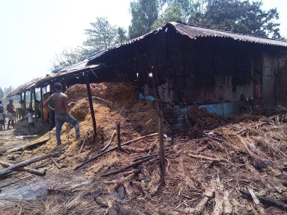 कमला नगरपालिकामा आगलागीले एक लाखको क्षति