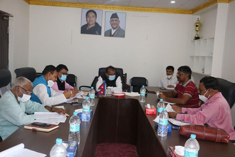 प्रदेश २ मा मन्त्रि स्तरीय विपद अनुगमन व्यवस्थापन समिति गठन