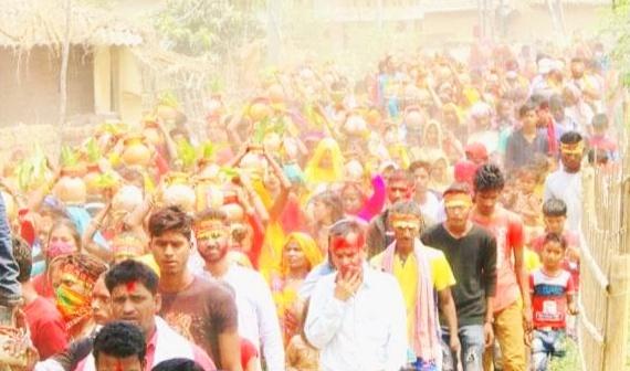 चैती दुर्गा : सबैलामा विशाल कलश यात्रा
