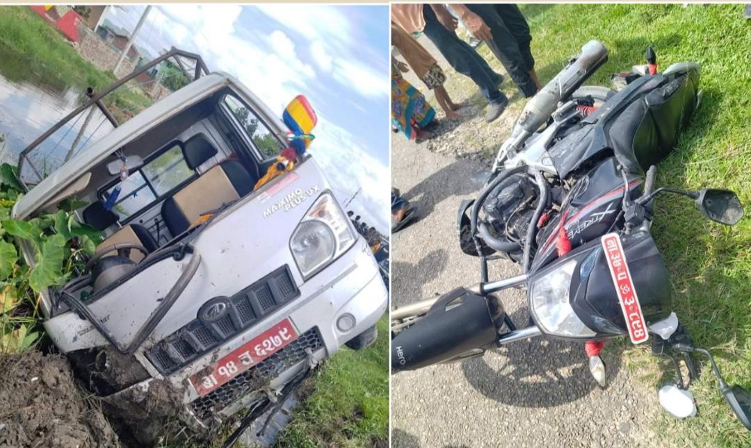 सप्तरीमा सवारी दुर्घटना हुदाँ १ जनाको मृत्यु