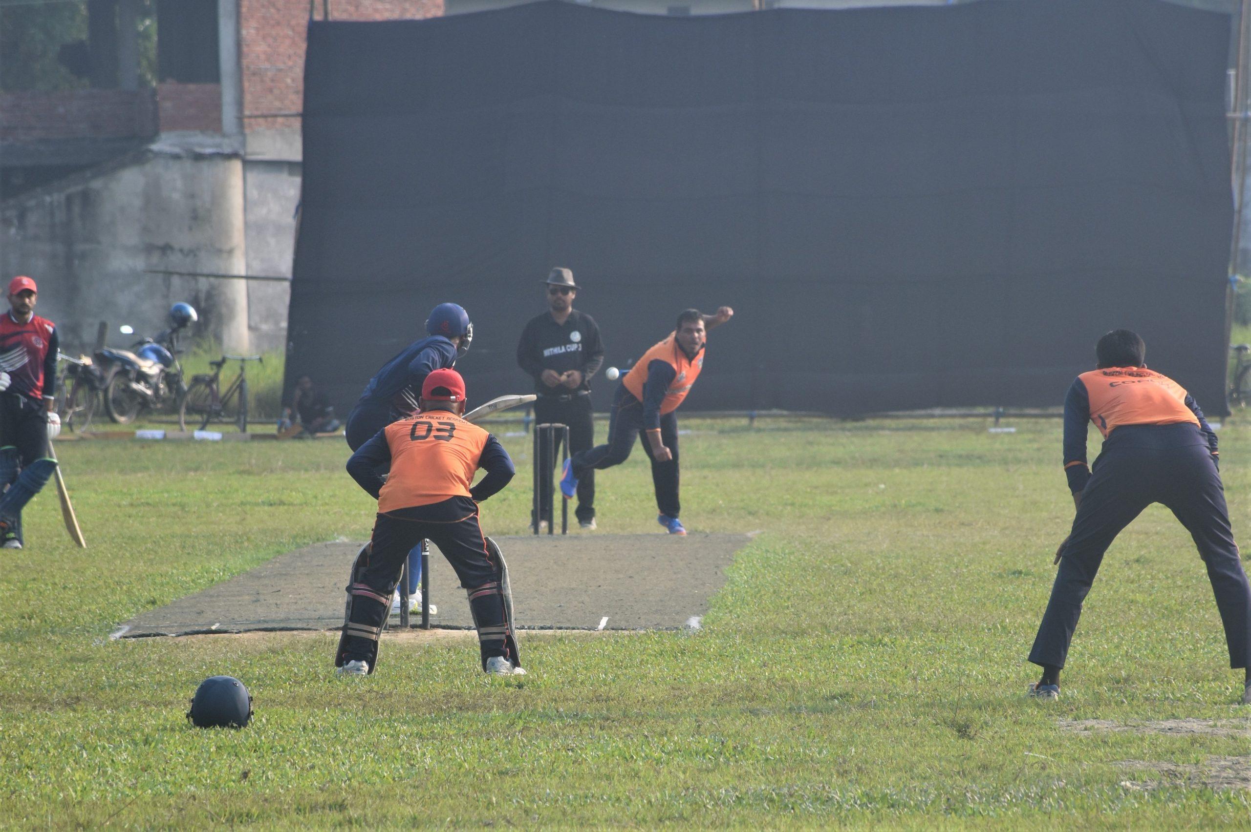 तेश्रो दिनको खेलमा सप्तरी र पर्सा विजय :मिथिला कप क्रिकेट प्रतियोगिता